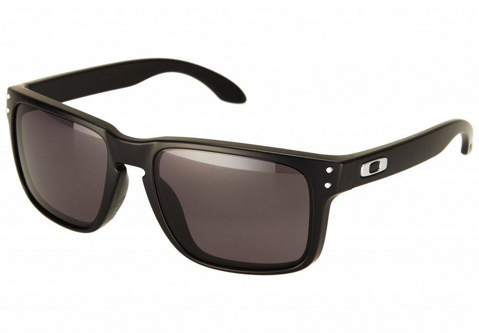 Oakley Radsportbrille »Holbrook« in schwarz