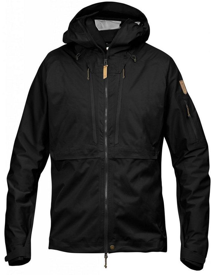 Fjällräven Regenjacke »Keb Eco-Shell Jacket Men« in schwarz