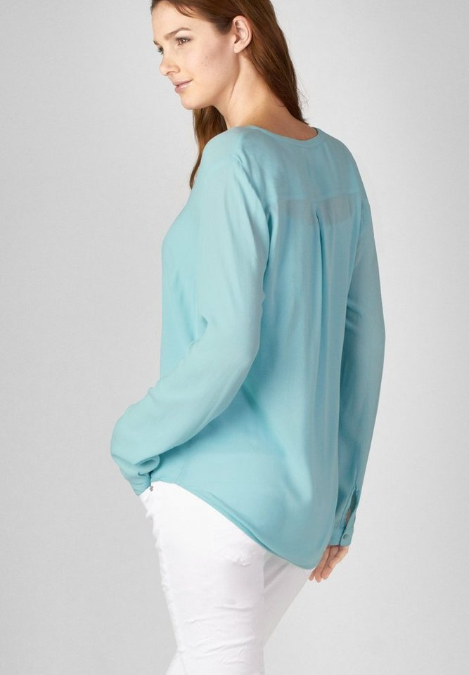Street One Viskose-Bluse Tonja in bright aqua