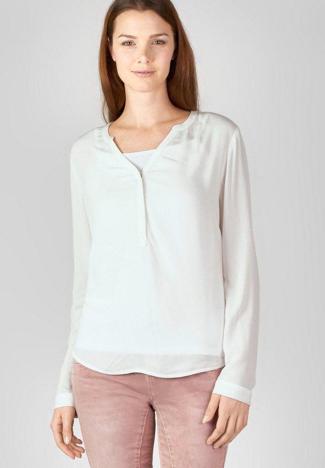 Street One Viskose-Bluse Tonja in off white