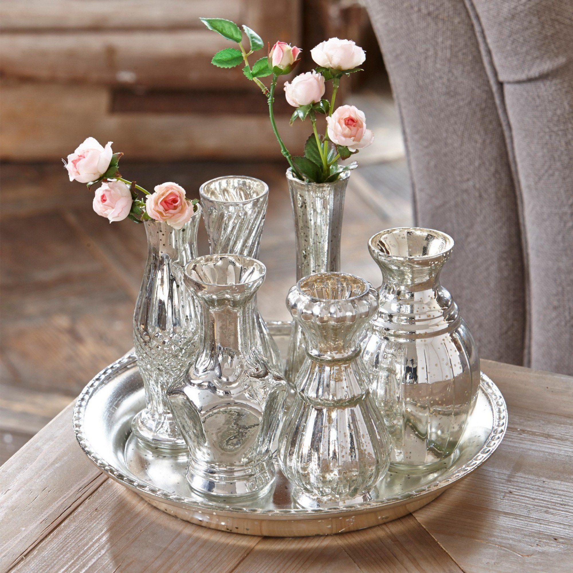 Loberon Tablett mit Vasen »Blairville«