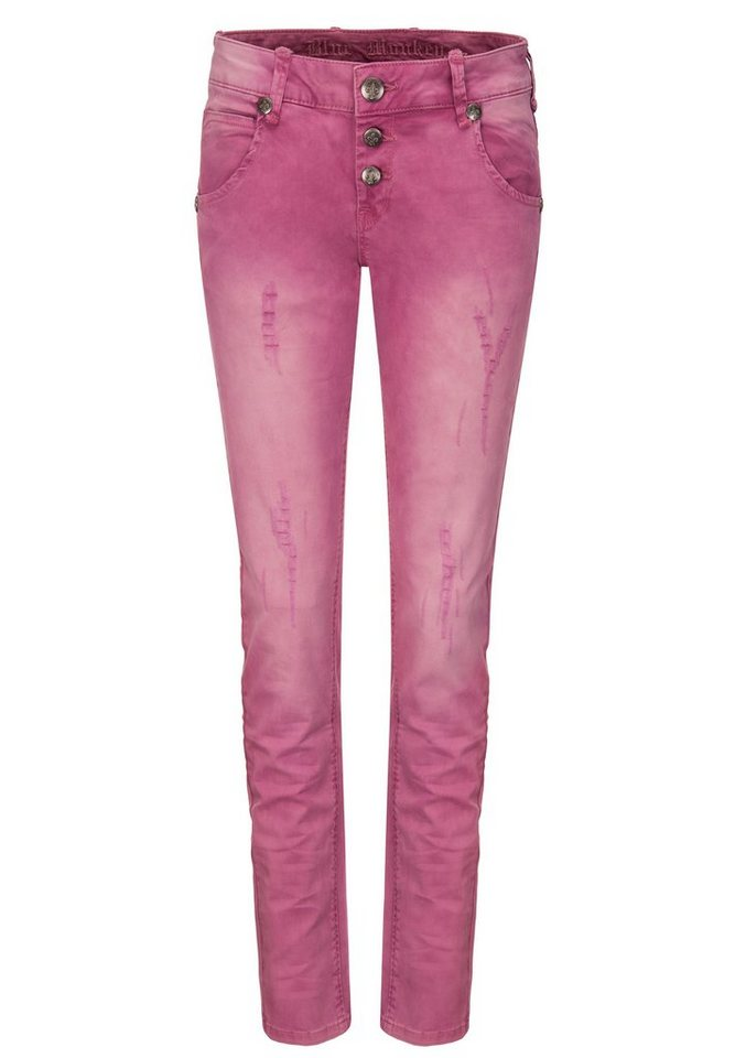 Blue Monkey 5-Pocket-Jeans »Maya« in pink