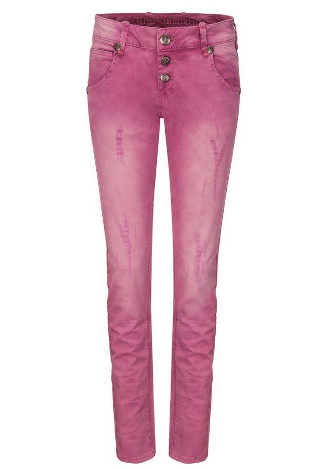 Blue Monkey 5-Pocket-Jeans »Maya« in rosa