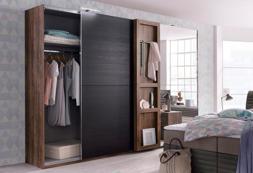 fresh to go schwebet renschrank mit regal kaufen otto. Black Bedroom Furniture Sets. Home Design Ideas
