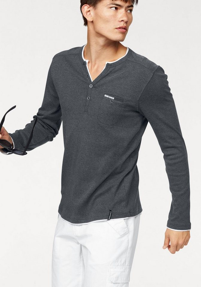 Bruno Banani Layershirt in anthrazit-meliert