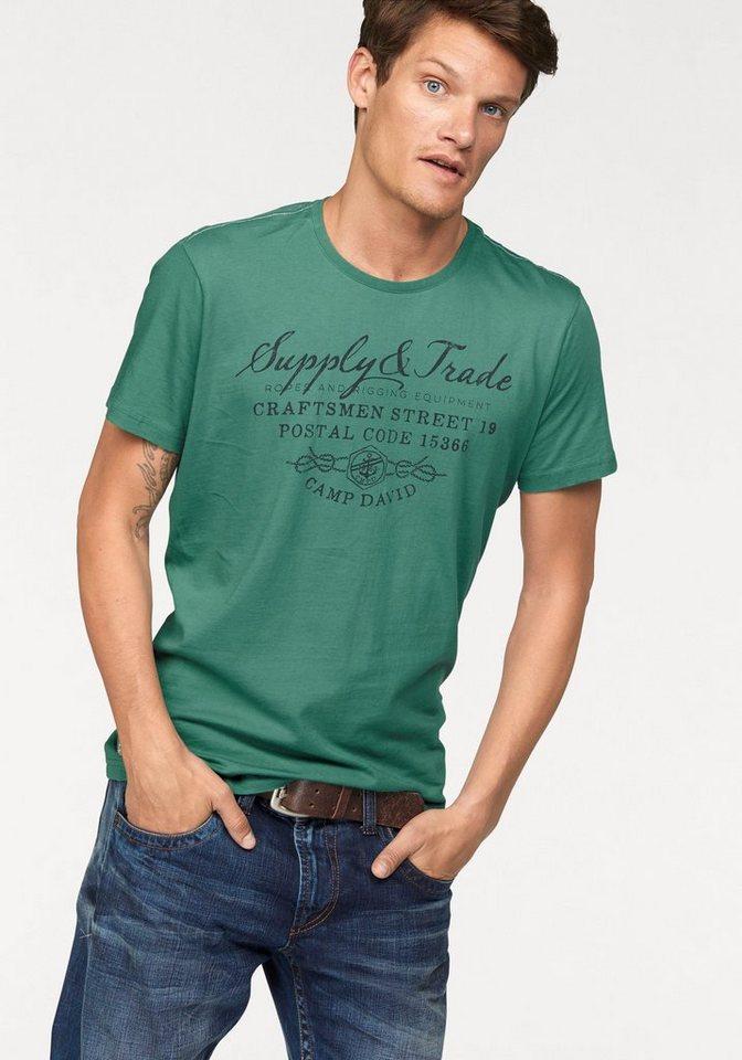 CAMP DAVID T-Shirt in grün