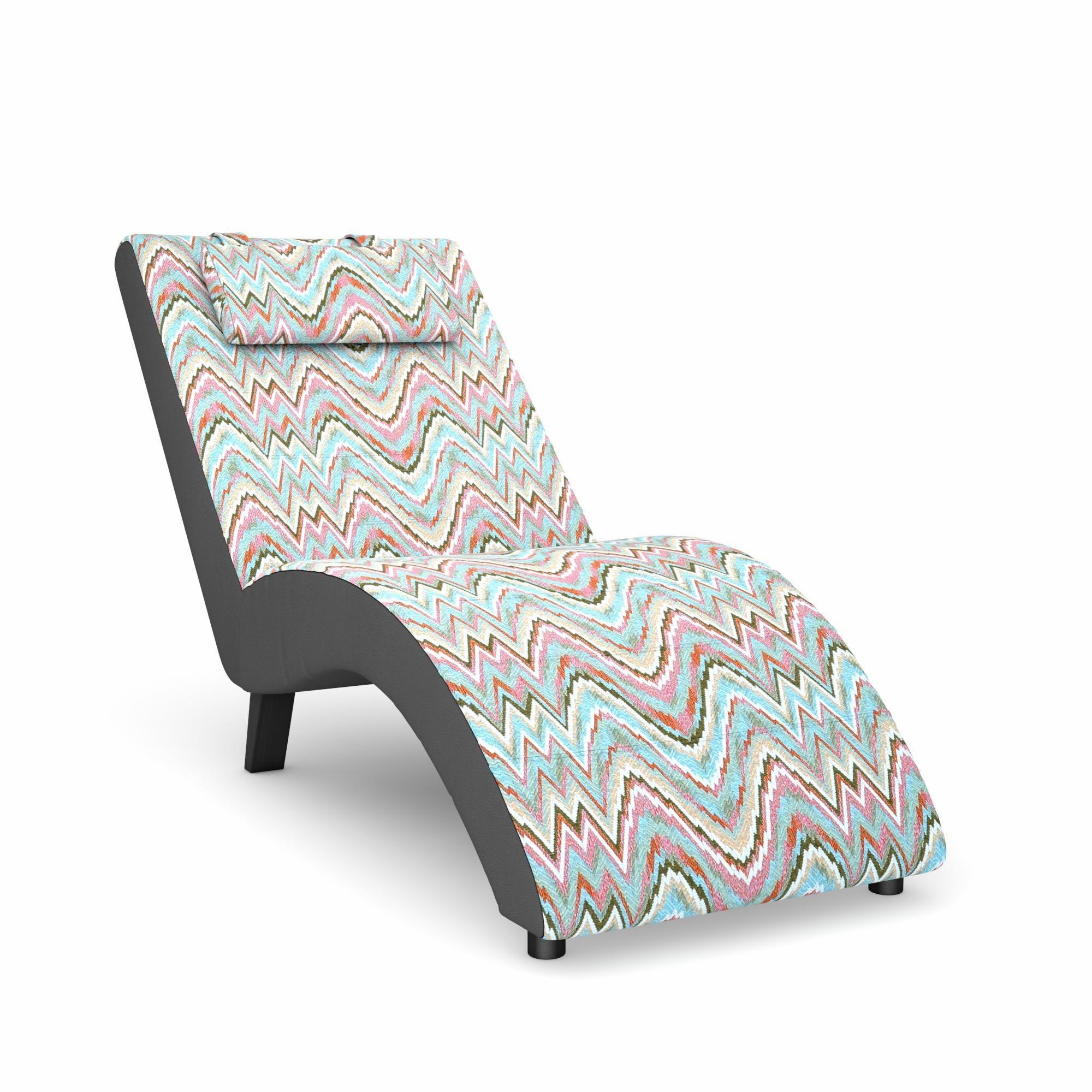 Max Winzer® build-a-chair Relaxliege »Nova«, inklusive Nackenkissen, zum Selbstgestalten | Wohnzimmer > Sessel > Relaxliegen | Print | Holz - Kunstleder - Buche - Massiv - Flachgewebe | Max Winzer®