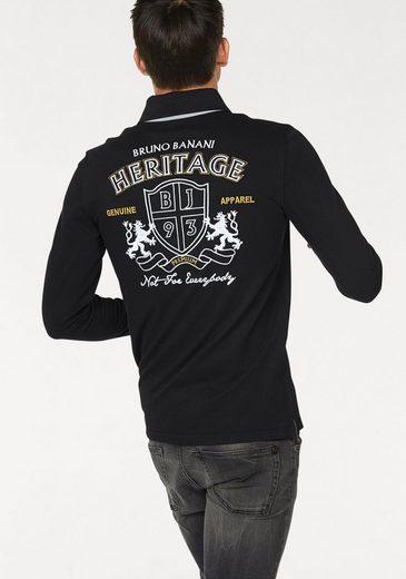 Bruno Banani Langarm-Poloshirt Piqué Qualität