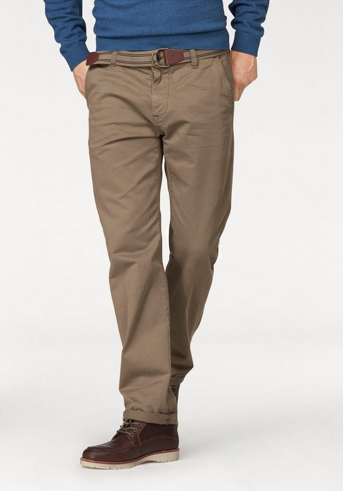 Tom Tailor Chinohose in camelfarben