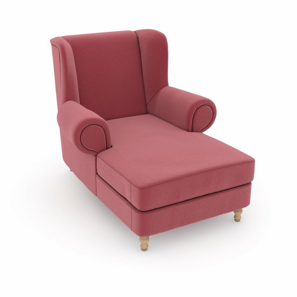 Max Winzer® build-a-chair XXL Ohrensessel »Madeleine«, zum Selbstgestalten in Sitzfläche/Rücken: Samtvelours rosé