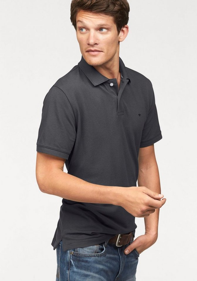 Tom Tailor Poloshirt »Basic« Piqué in anthrazit