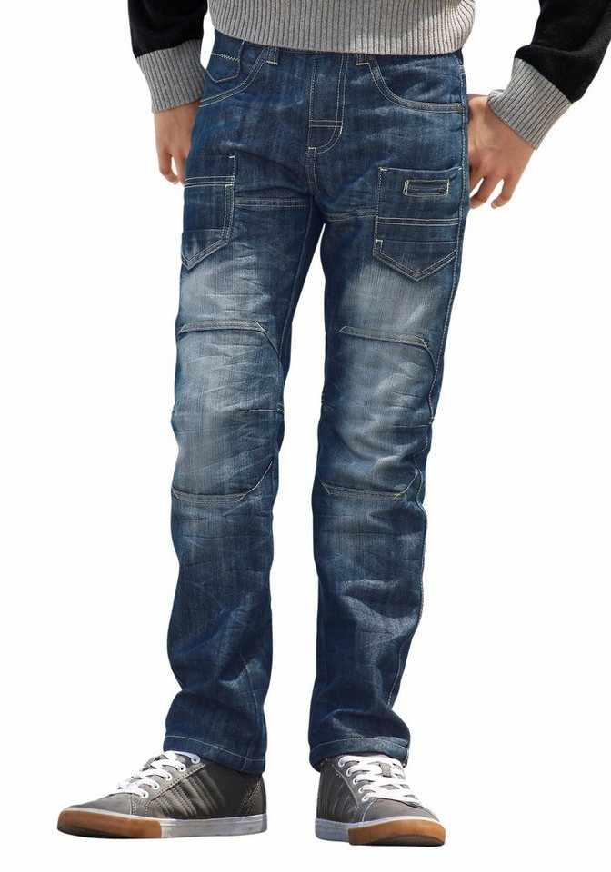 Arizona Regular-fit-Jeans mit geradem Bein in blue-denim
