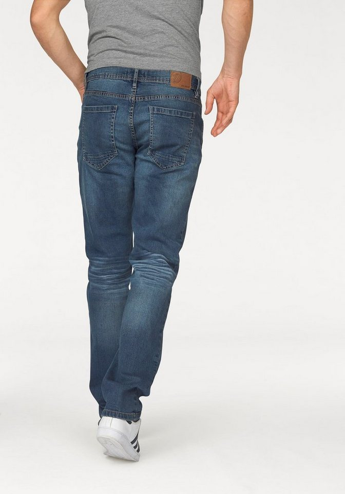 John Devin Straight-Jeans Stretch in blue-used