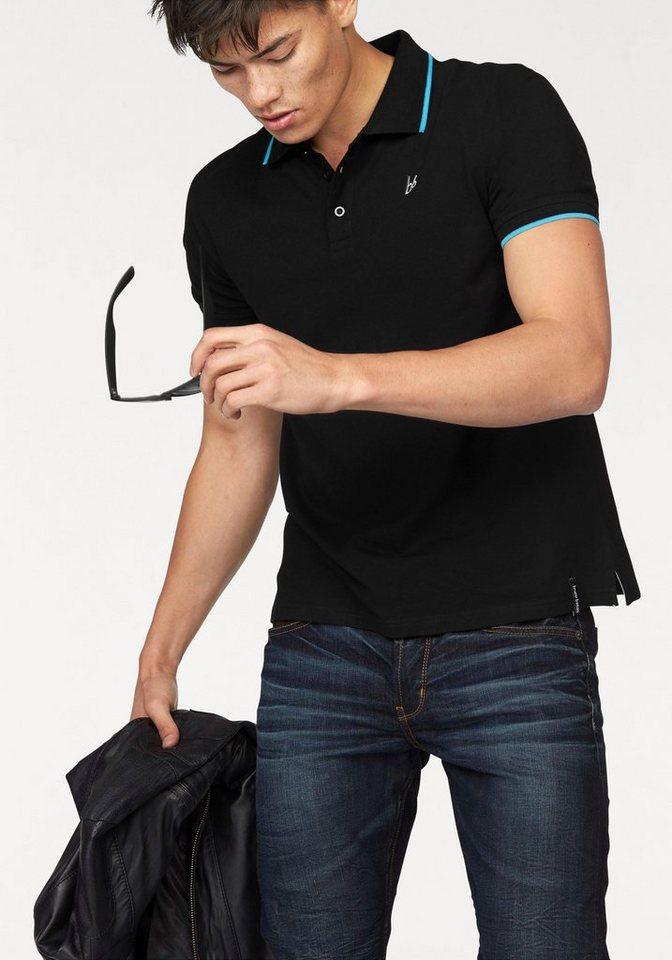 Bruno Banani Poloshirt Piqué Qualität in schwarz