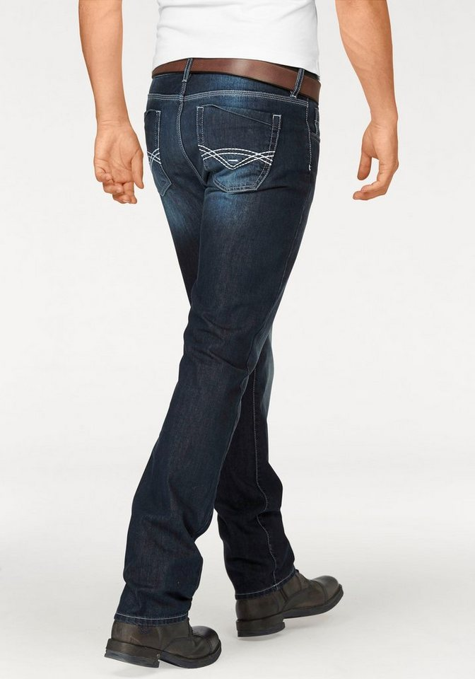 Bruno Banani Straight-Jeans »Rayen« in dark-used