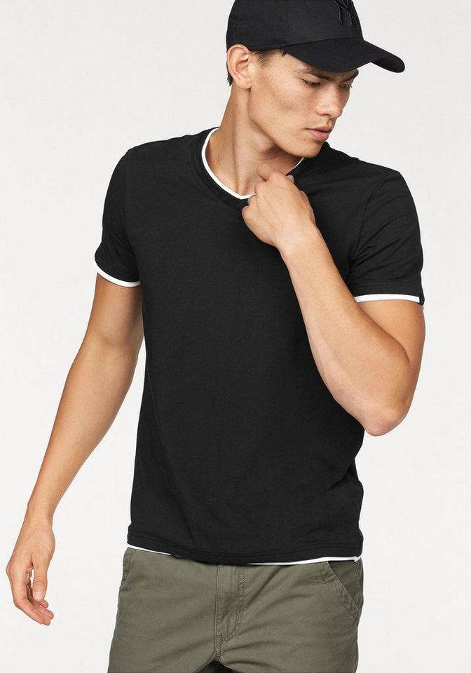 John Devin Layershirt in schwarz
