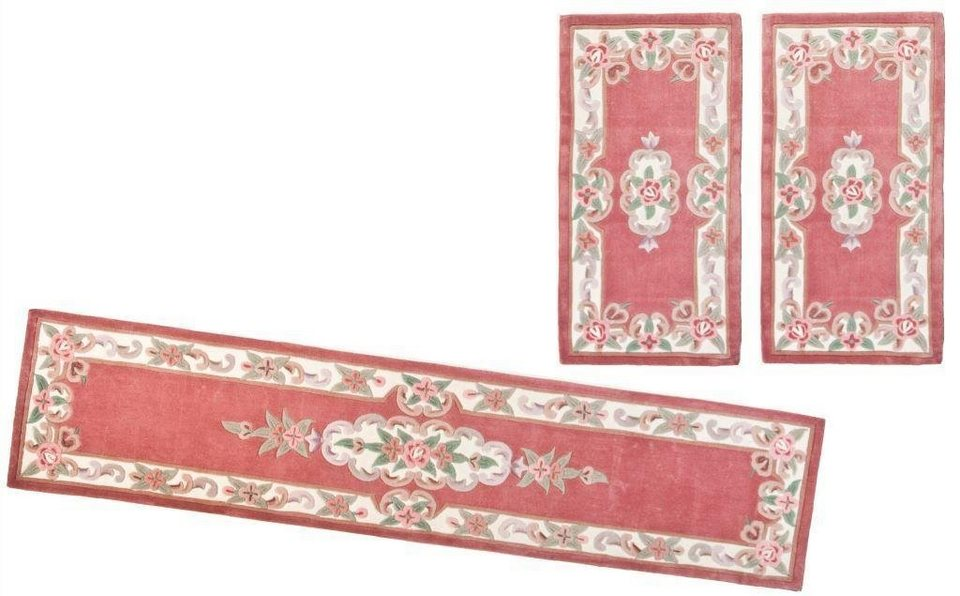 Bettumrandung 3 tlg., Theko Harmony, »Ming«, handgearbeitet in rose
