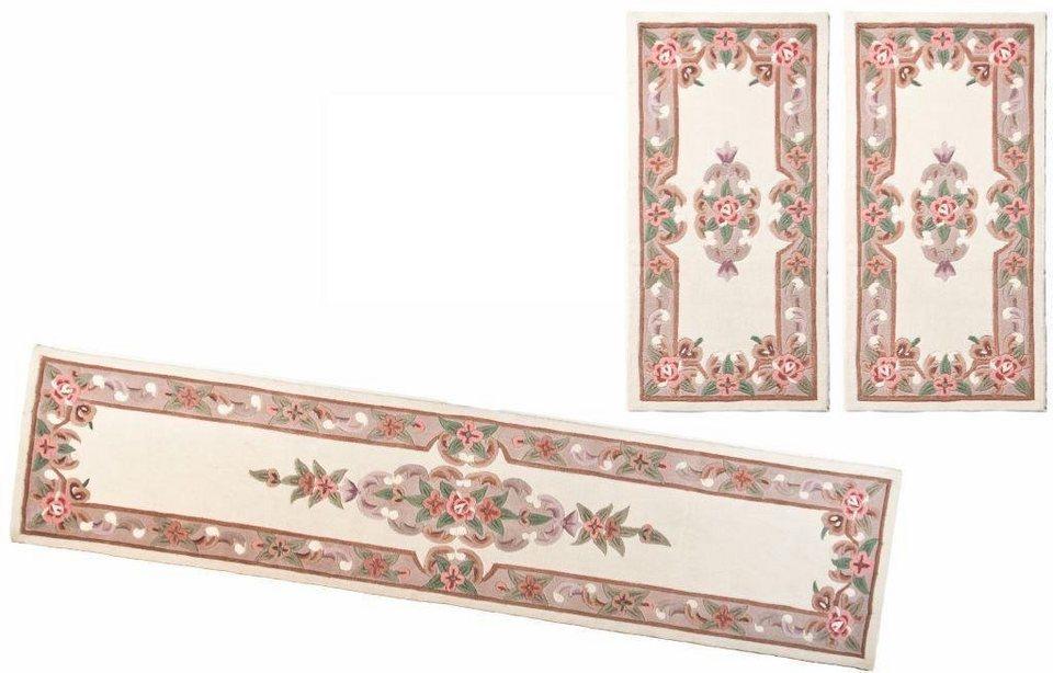 Bettumrandung 3 tlg., Theko Harmony, »Ming«, handgearbeitet in beige