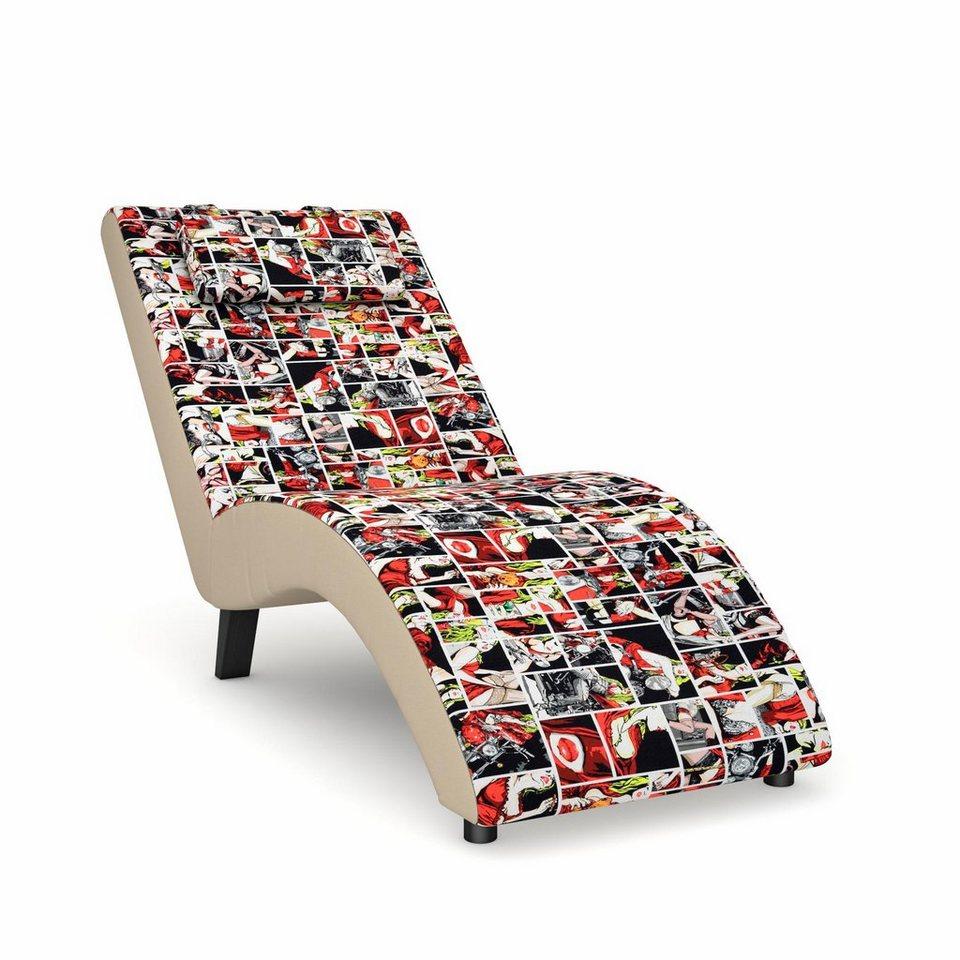 Max Winzer® build-a-chair Relaxliege »Nova«, inklusive Nackenkissen, zum Selbstgestalten in Sitzfläche/Rücken: Flachgewebe Print by Steffen Kindt