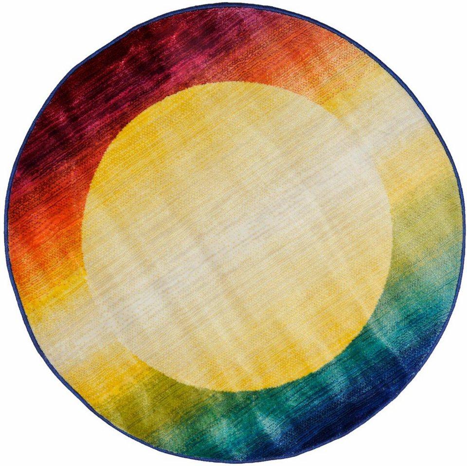 Teppich, rund, Oriental Weavers, »Oriental Summer 5« in gelb