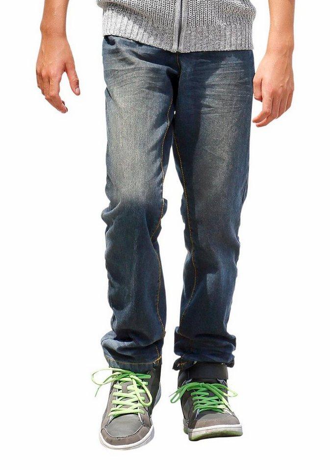 Arizona Regular-fit-Jeans mit geradem Bein in dirty-denim