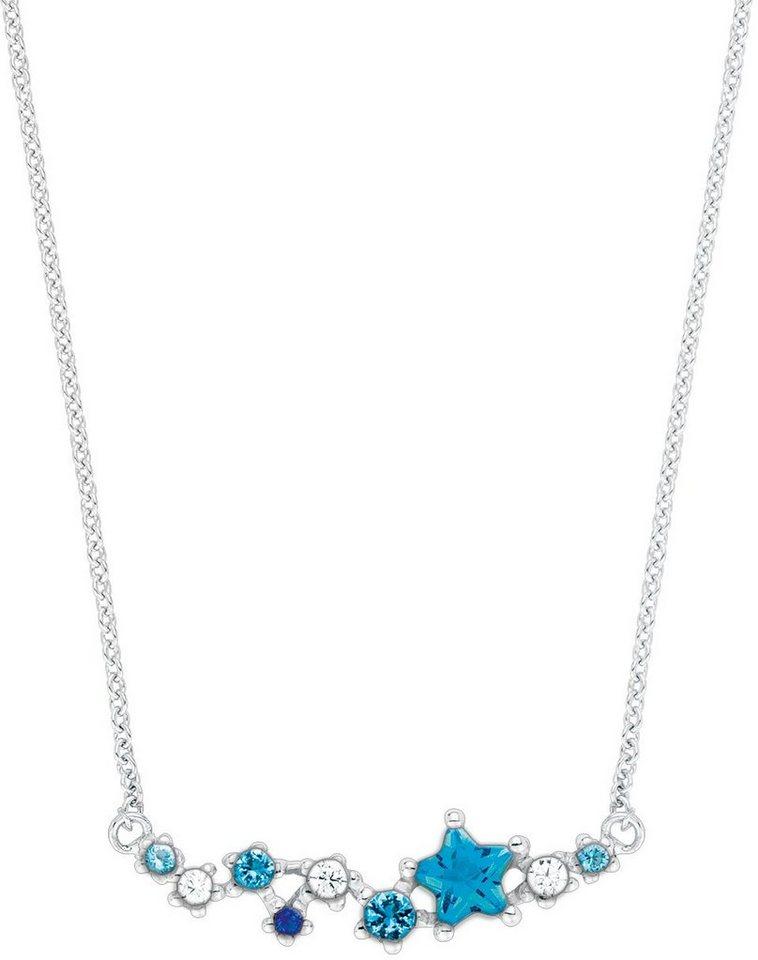 Amor Kette mit Anhänger mit Zirkonia, »Stern, E82/12 538282« in Silber 925-blau