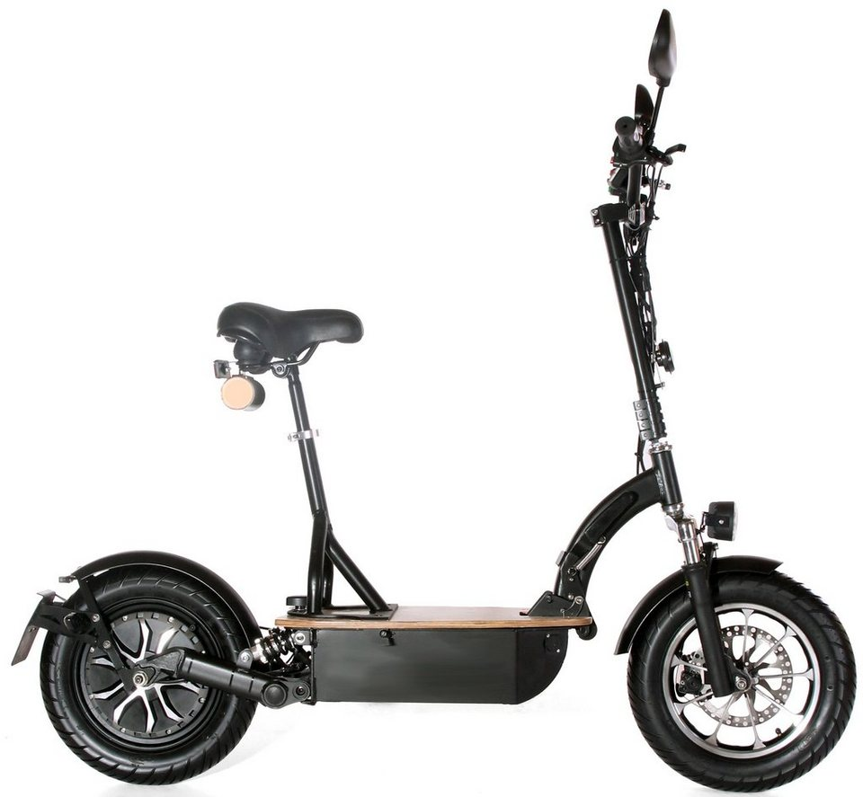 Didi Thurau Edition Elektro-Roller Eco-Tourer, 20 km/h, »Safety Plus« in schwarz