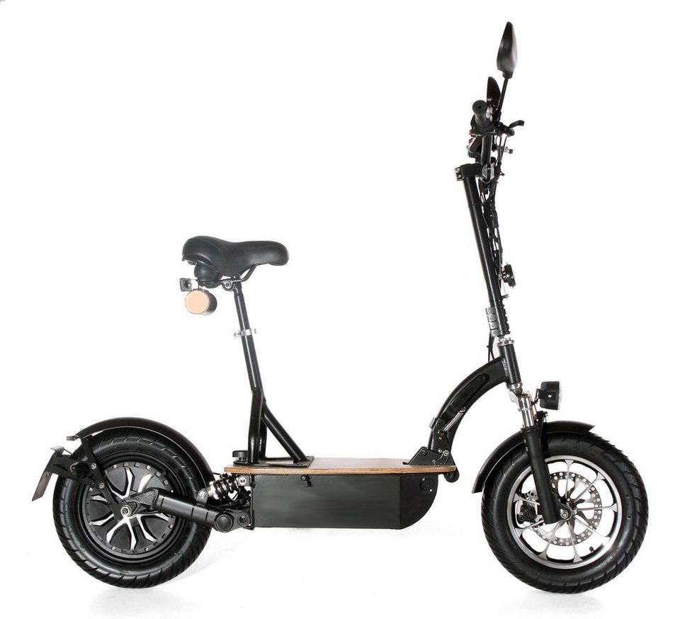 Didi Thurau Edition Elektro-Roller Eco-Tourer Speed, 45 km/h, »Safety« in schwarz