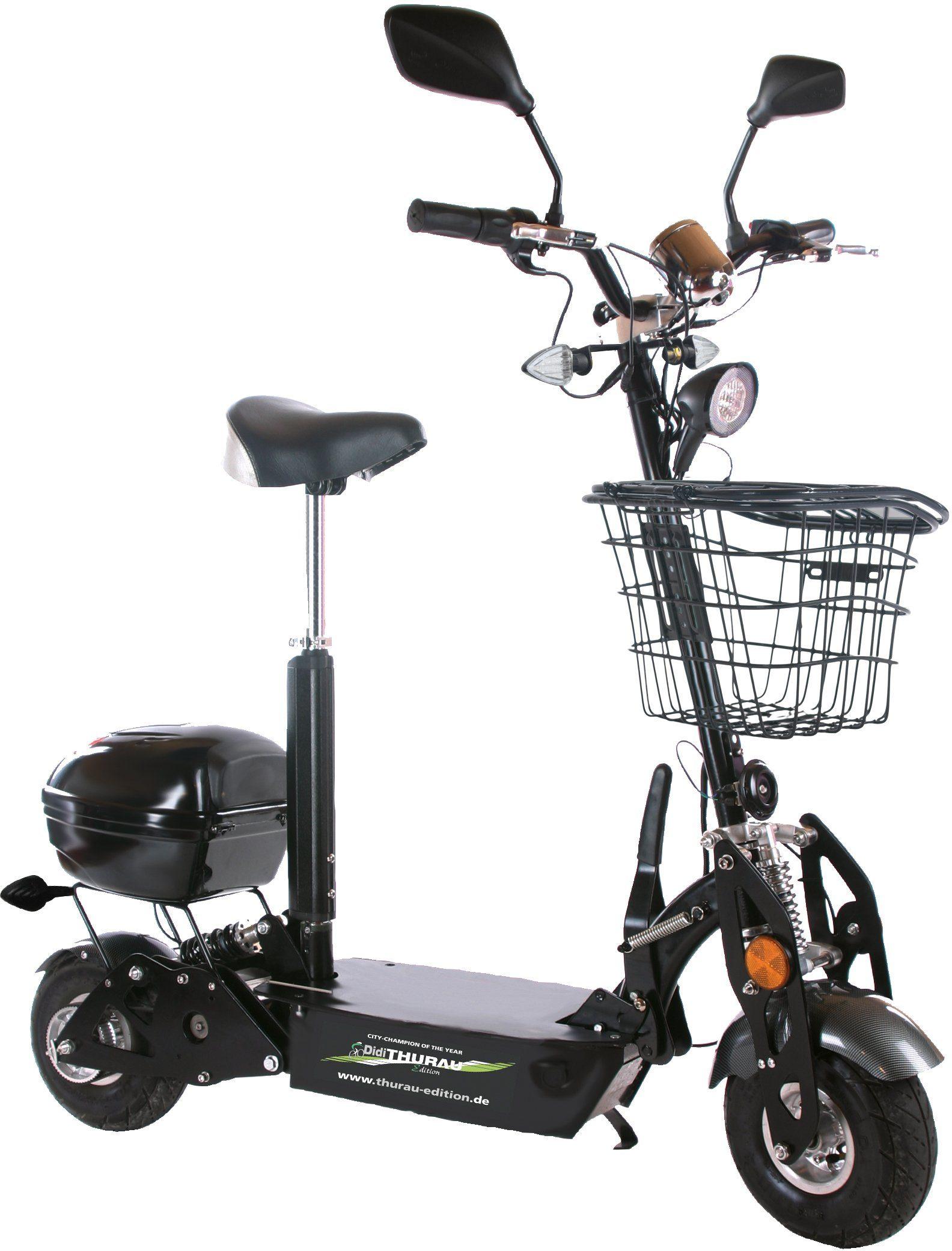 Didi Thurau Edition Elektro City Roller, 20 km/h, »Safety Plus«
