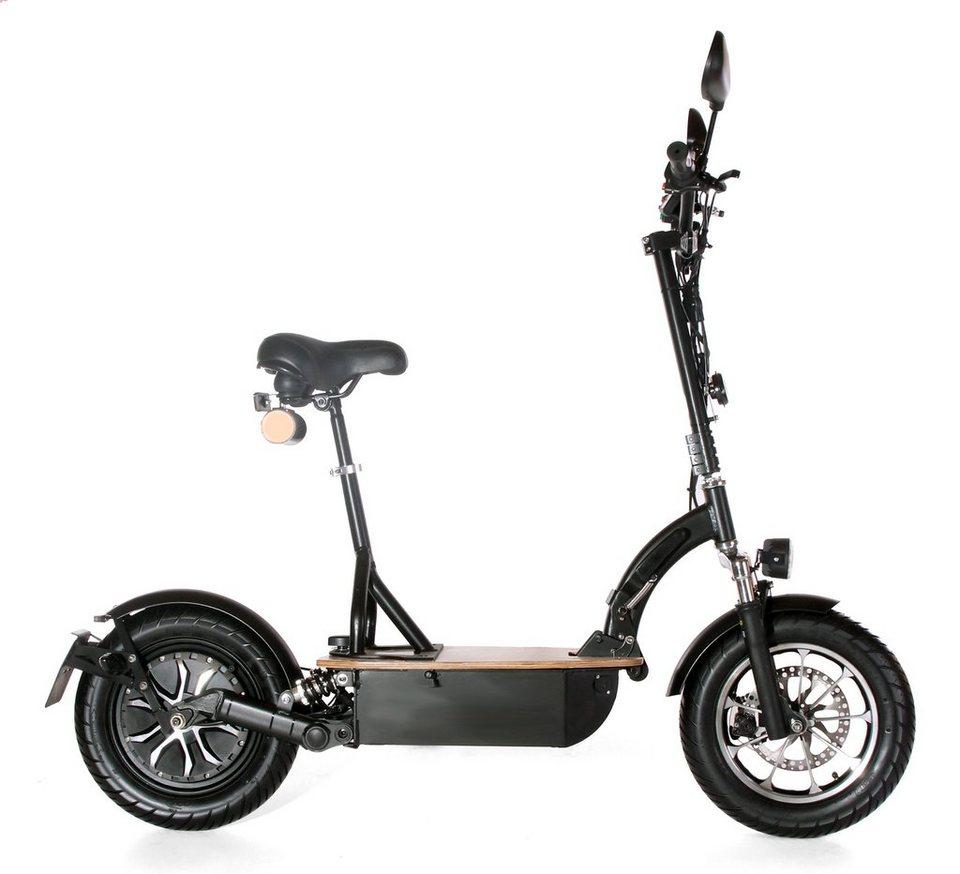 Didi Thurau Edition Elektro-Roller Eco-Tourer, 20 km/h, »Safety« in schwarz