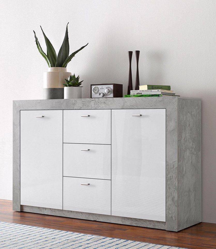 sideboard breite 145 5 cm hochglanz fronten online kaufen otto. Black Bedroom Furniture Sets. Home Design Ideas