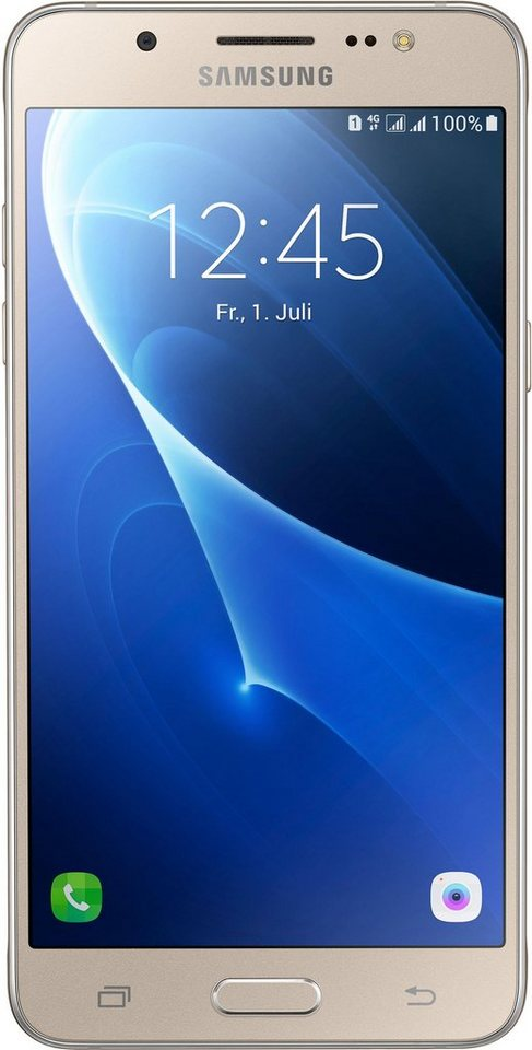 Samsung Galaxy J5 (2016) Duos Smartphone, 13,18 cm (5,2 Zoll) Display, LTE (4G), Android Beam in goldfarben