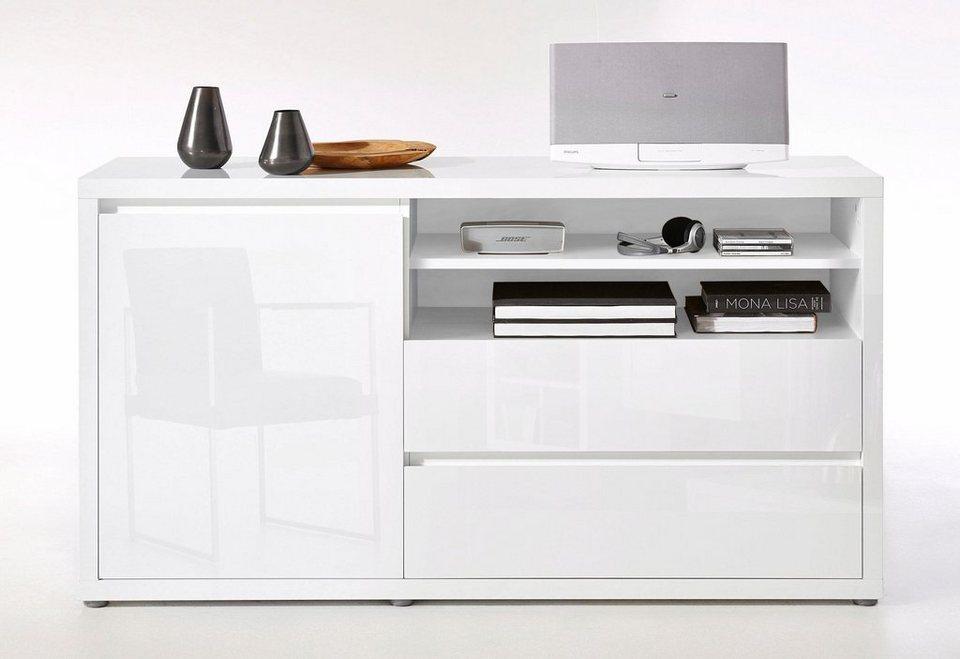 roomed Sideboard »Moro«, Breite 136,4 cm in weiß Lack