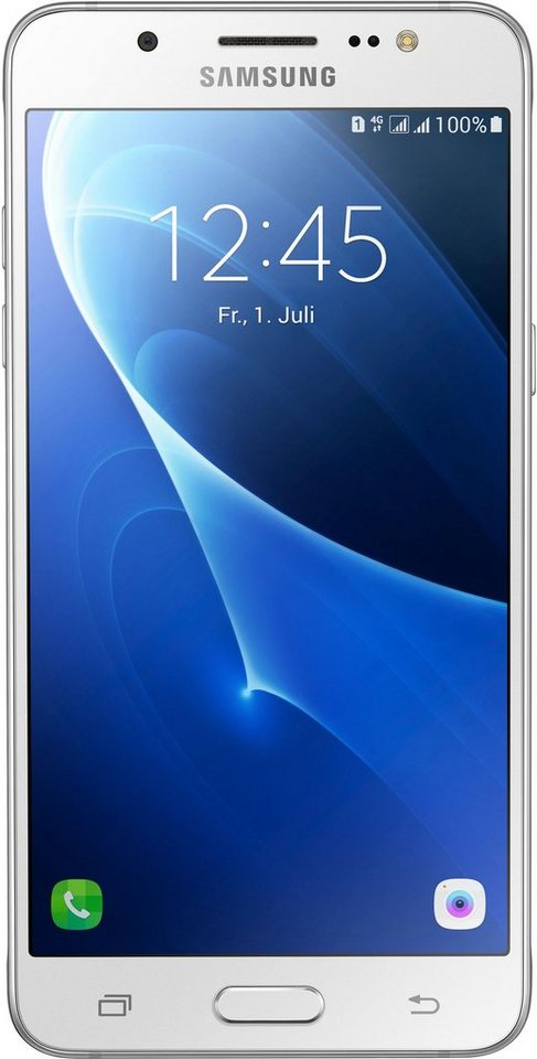 Samsung Galaxy J5 (2016) Duos Smartphone, 13,18 cm (5,2 Zoll) Display, LTE (4G), Android Beam in weiß