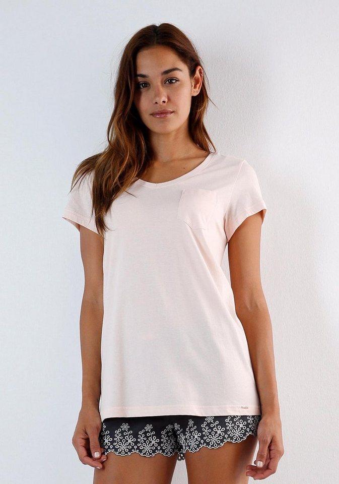 Skiny Basic T-Shirt mit Rundhalsausschnitt in pearl blush