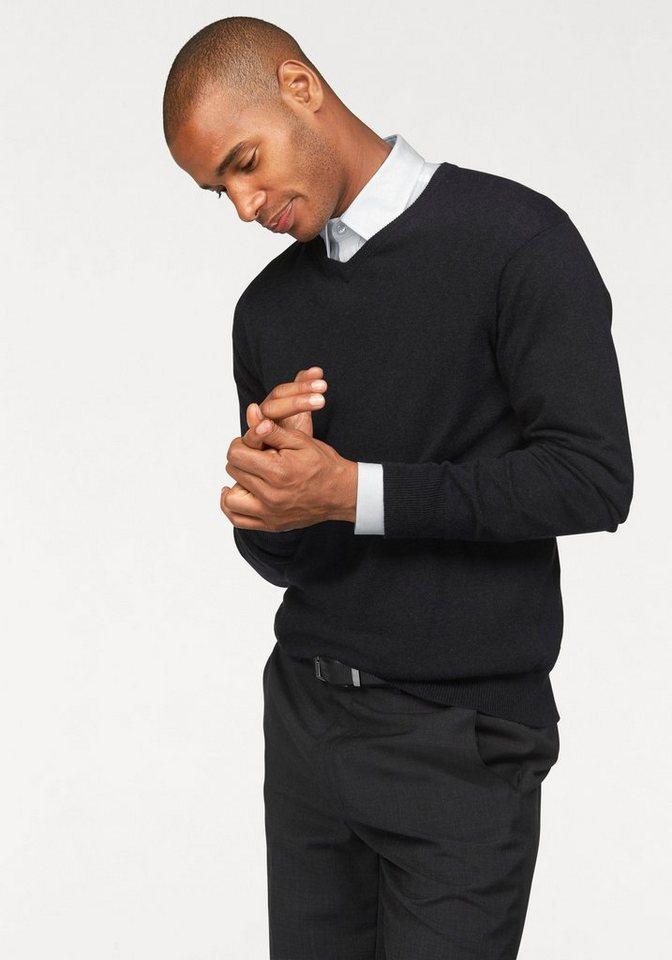 Class International V-Ausschnitt-Pullover in anthrazit