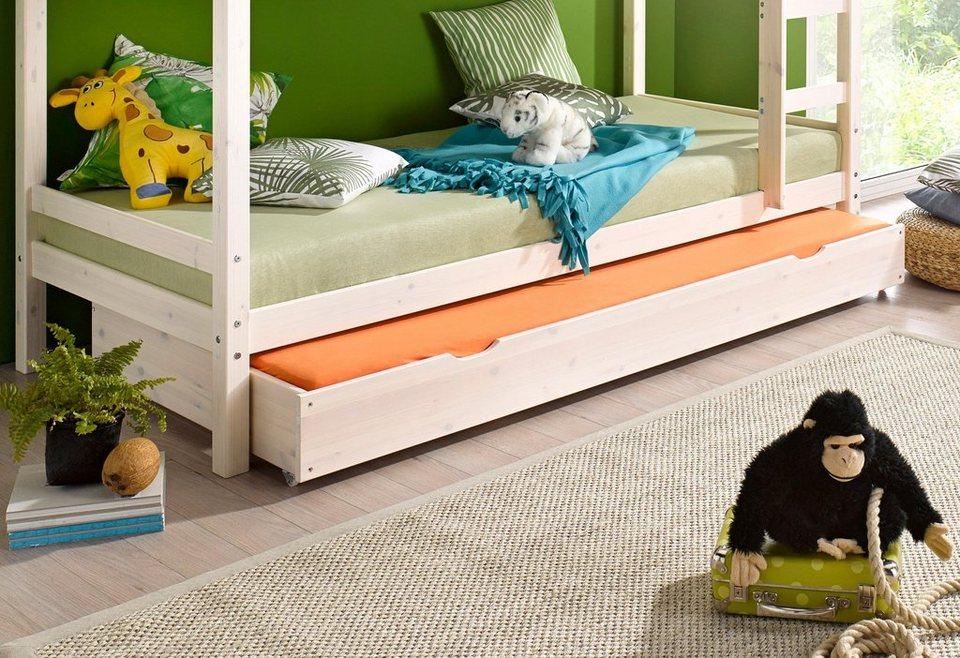 Bettschubkasten für 2. Schlafgelegenheit in weiß lasiert