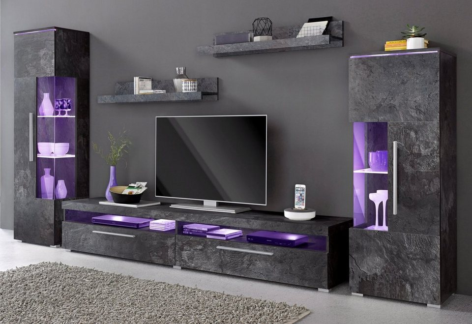 wohnwand 5 tlg online kaufen otto. Black Bedroom Furniture Sets. Home Design Ideas