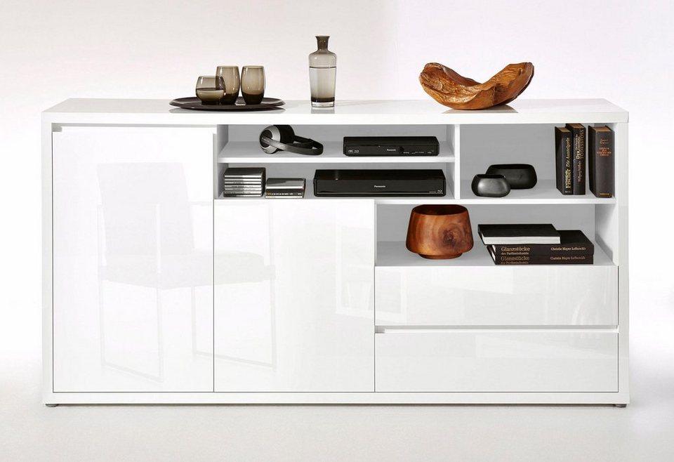roomed Sideboard »Moro«, Breite 188 cm in weiß Lack