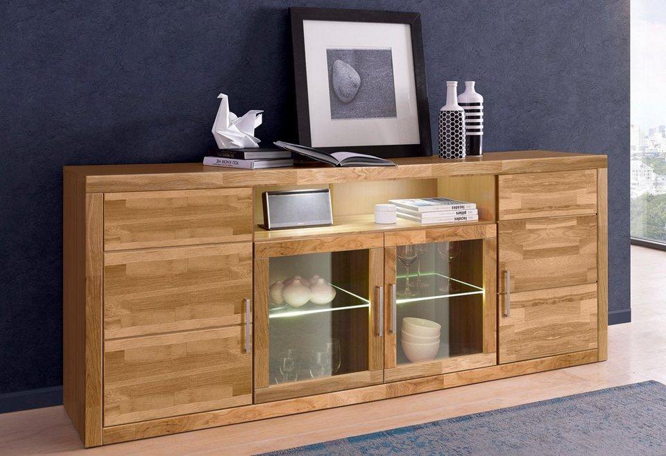 Places Of Style Sideboard Breite 200 Cm Teilmassiv Online Kaufen