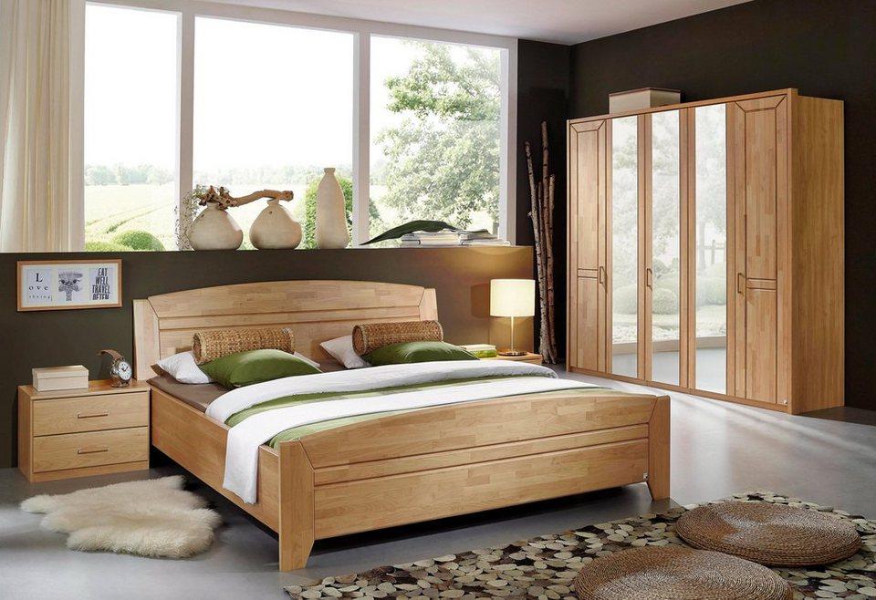 rauch Schlafzimmer-Set (4-tlg.) in Erle natur teilmassiv