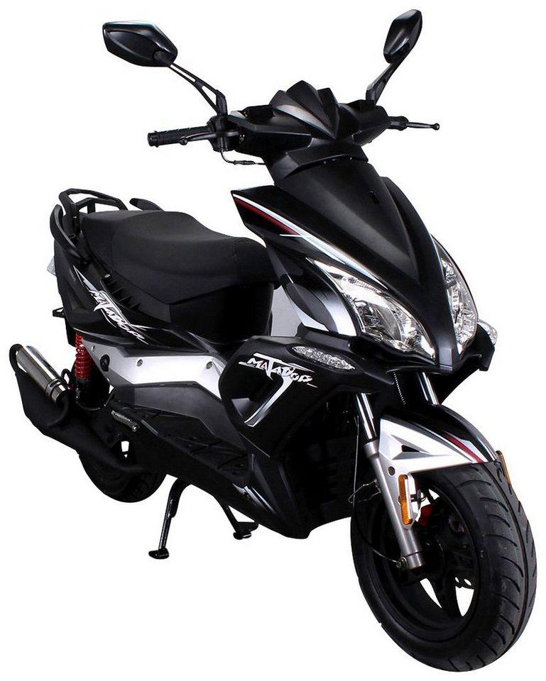 Mofa »Matador«, 50 ccm, 25 km/h, entdrosselbar  in schwarz