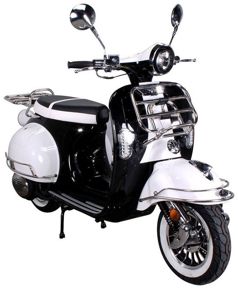 Motorroller »Retro Star«, 50 ccm, 45 km/h in weiß