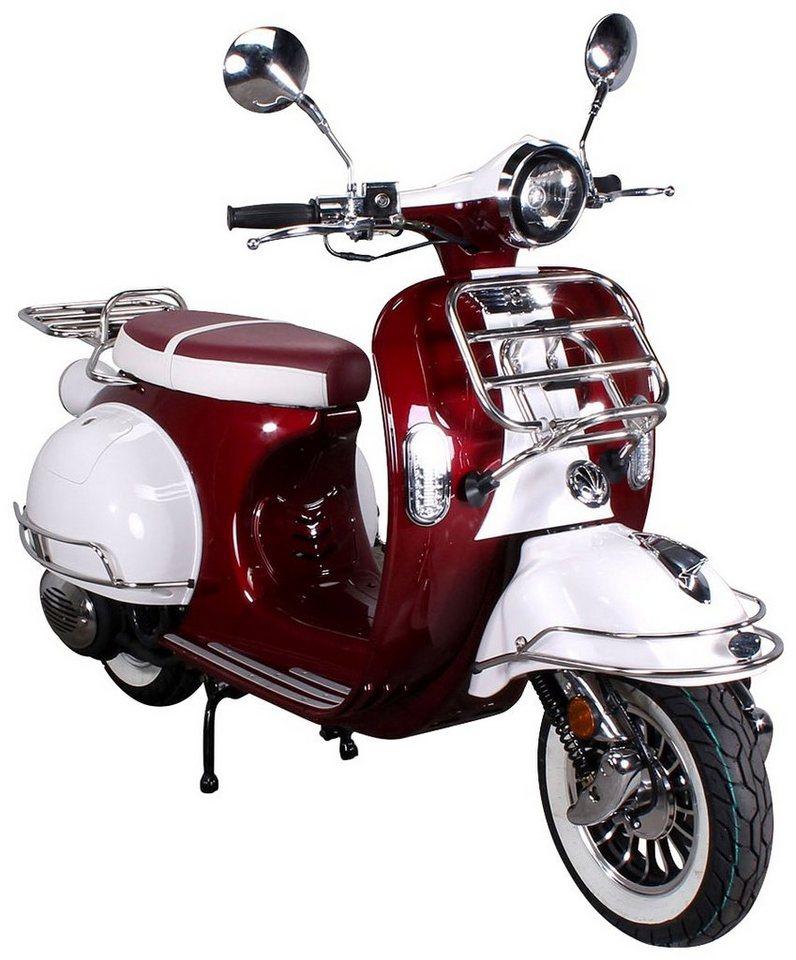 Motorroller »Retro Star«, 50 ccm, 45 km/h in schwarz