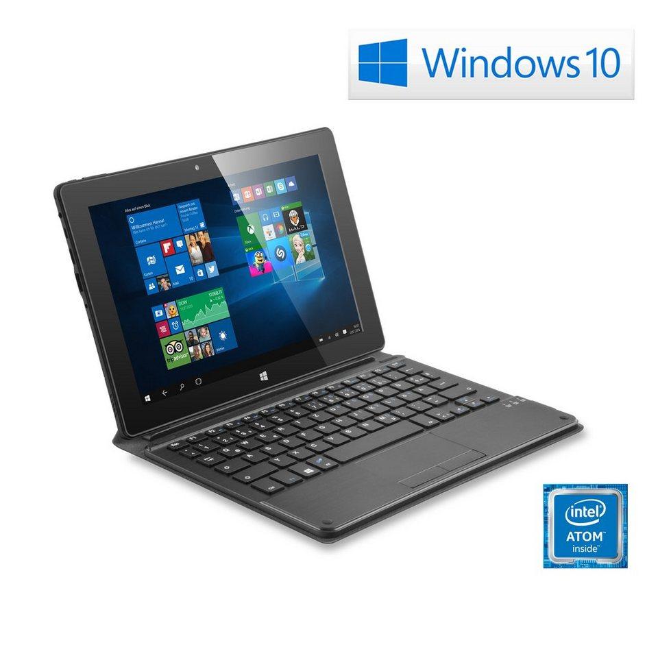 "CSL 10"" Tablet | Intel X5-Z8300 | 32 GB | WLAN | IPS »Panther Tab 10 USB 3.0 | Win 10 | Tastatur« in schwarz"