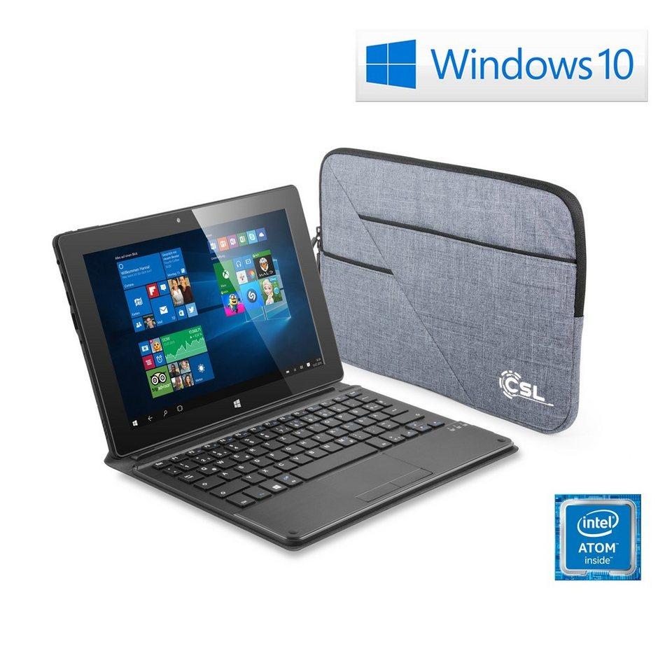 "CSL 10"" Tablet   Intel X5-Z8300   32 GB »Panther Tab 10 USB3.0   Win 10   Tastatur   Tasche« in schwarz"