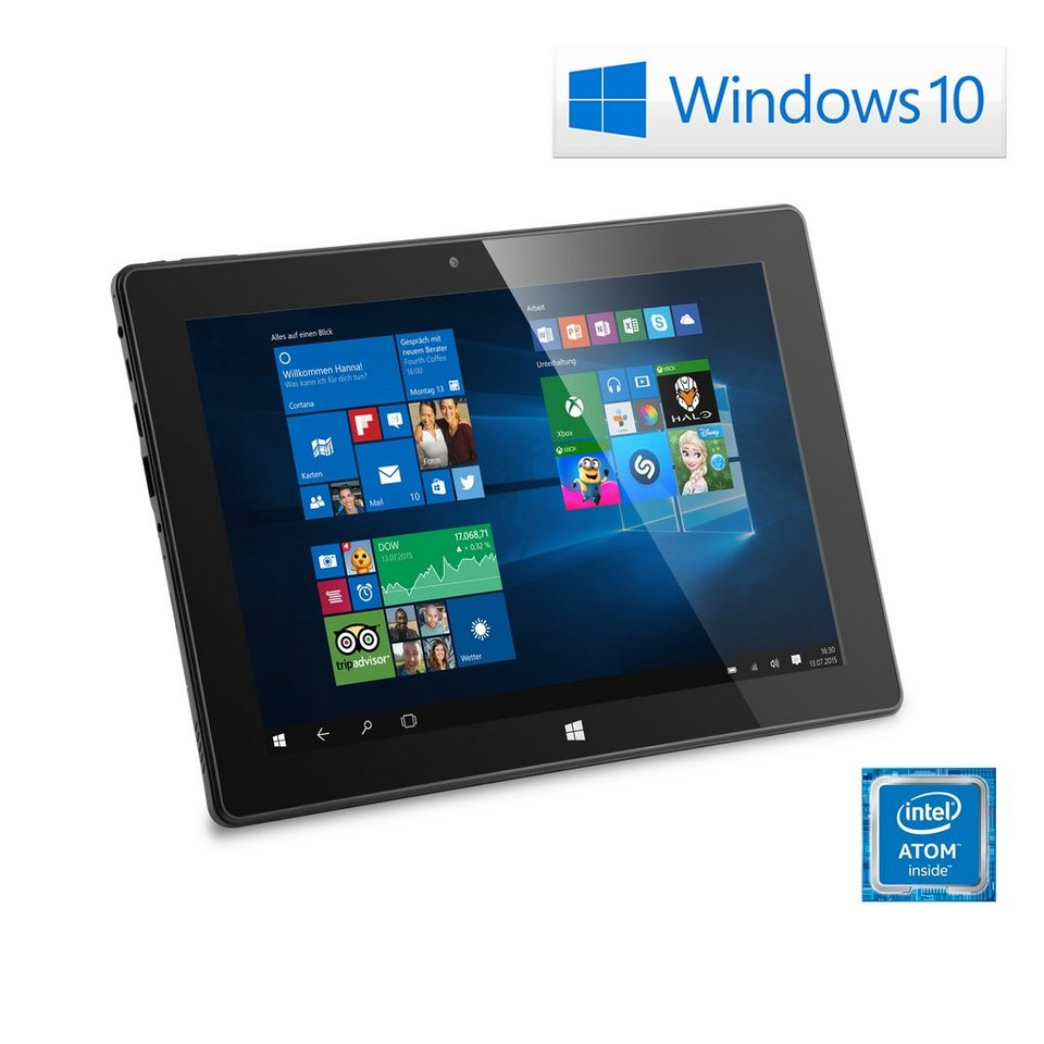"CSL 10"" Tablet | Intel X5-Z8300 | 32 GB | WLAN | IPS »Panther Tab 10 USB 3.0 | Win 10« in schwarz"