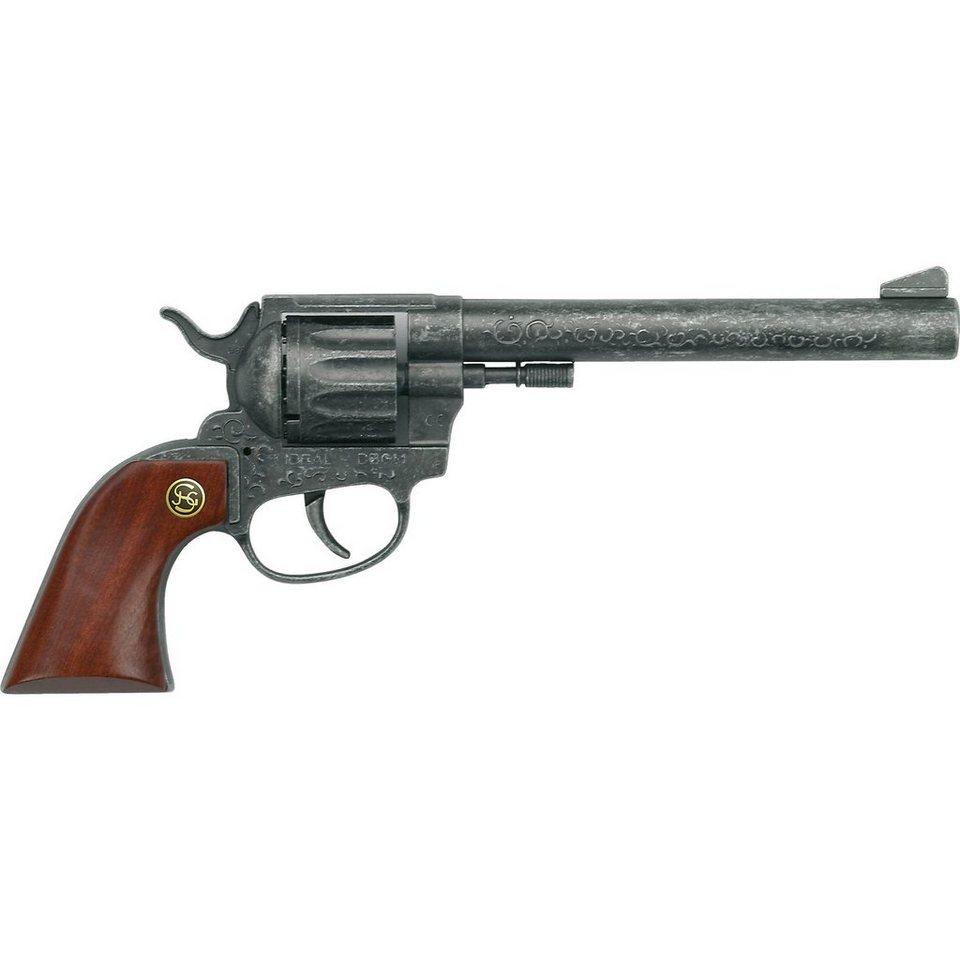 Schrödel Pistole Buntline mit Holzgriff, 12 Schuss
