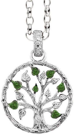 Julie Julsen Anhänger ohne Kette, »Silver Julie, Lebensbaum, JJ9665.1« in Silber 925-grün