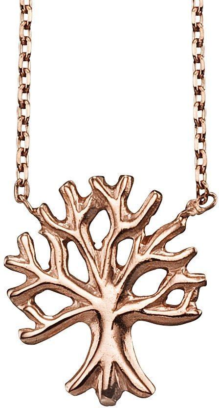 Julie Julsen Kette mit Anhänger, »Petite COLLECTION, Baum, JJNE9826.2« in Silber 925-roségoldfarben vergoldet